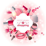 Make-up background Royalty Free Stock Images