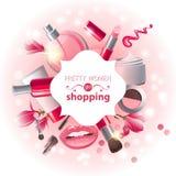 Make-up background royalty free illustration