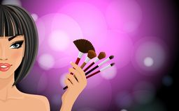 Make up background Royalty Free Stock Photography