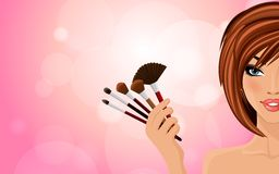 Make up background Stock Images