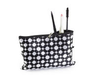 Make up bag with cosmetics Stock Photography