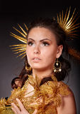 Make up of beautiful girl. Royalty Free Stock Photos