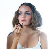 Make up on beautiful model Royalty Free Stock Photography