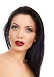 Make up beautiful woman red lips Royalty Free Stock Photography