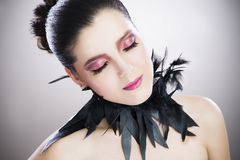 Make-up beautiful young woman close up Stock Photo