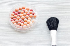 Make-up and beauty. Cosmetics on the table in studio Stock Image