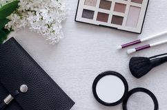 Make up beauty and fashion background. royalty free stock photo