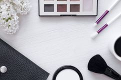 Make up beauty and fashion background. royalty free stock photos