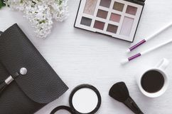 Make up beauty and fashion background. stock photography