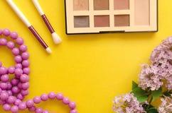 Make up beauty and fashion background. stock photo