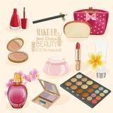 Make Up and Beauty Symbols. Royalty Free Stock Image