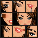 Make-up beauty woman Stock Photo