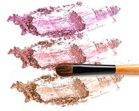 Make up blush on crushed collection eye shadow. Make up blush on crushed collection eye shadow Stock Photo