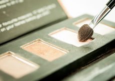 Make up blush on powder earth tone color Stock Photos