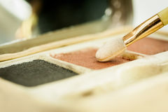 Make up blush on powder earth tone color Stock Image