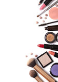 Make Up Border. Cosmetics on a white background Stock Image