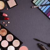 Make-up border - Slate. Make-up on a slate background Royalty Free Stock Images