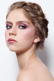 Make-up and braids Stock Image