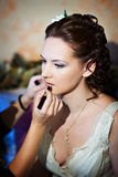 Make up the bride. In wedding day Stock Photo