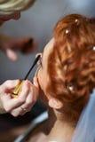 Make up the bride Stock Photos