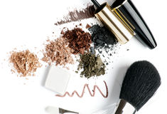 Make up in brown stock image