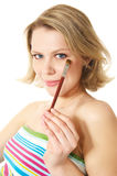 Make-up brush Stock Photo
