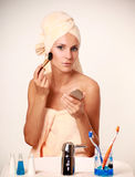 Make-up Brush Royalty Free Stock Photography