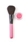 Make-up brush and blush Stock Image