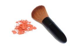 Make up brush and brush on Royalty Free Stock Photo