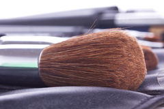 Make-up brush in case Royalty Free Stock Images