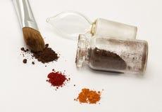 Make up brush and eyeshadow Royalty Free Stock Photo
