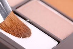 Make up brush in eyeshadows Stock Images