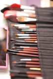 Make-up brush kit Stock Photo
