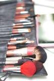 Make-up brush kit Stock Images