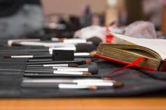 Make-up brush kit Stock Image