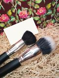 Make-up brush powder foundation blush equipment tool cosmetic photo.  Stock Photos