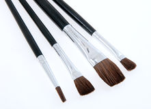 Make-up Brush Set Royalty Free Stock Images
