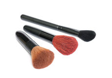 Make up brush set isolated Royalty Free Stock Images
