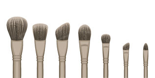 Make-up Brush Set royalty free stock images