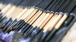 Make up brush set Stock Photo