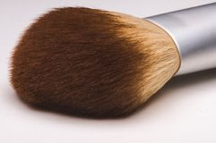 Make-up brush on white background. Make-up brush close up on white background Stock Photography
