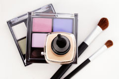 Make Up and Brushes Royalty Free Stock Photography