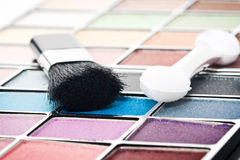 Make up and brushes Royalty Free Stock Images