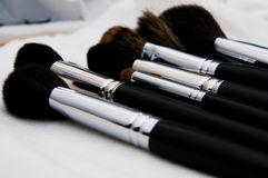 Make-up brushes Stock Image