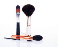 Make up brushes. Isolated on white background stock photo
