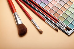 Make up brushes Stock Image