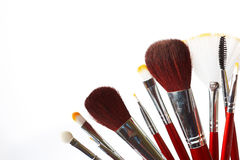 Make- up brushes Stock Images