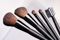 Make-up brushes Royalty Free Stock Images