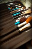 Make up Brushes. Some collections of make up brushes, look very exclusive Stock Photography