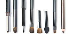 Make-up brushes Stock Photos